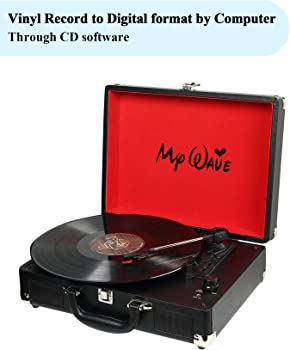 MyWave Portable Turntable Built-in Stereo Speakers
