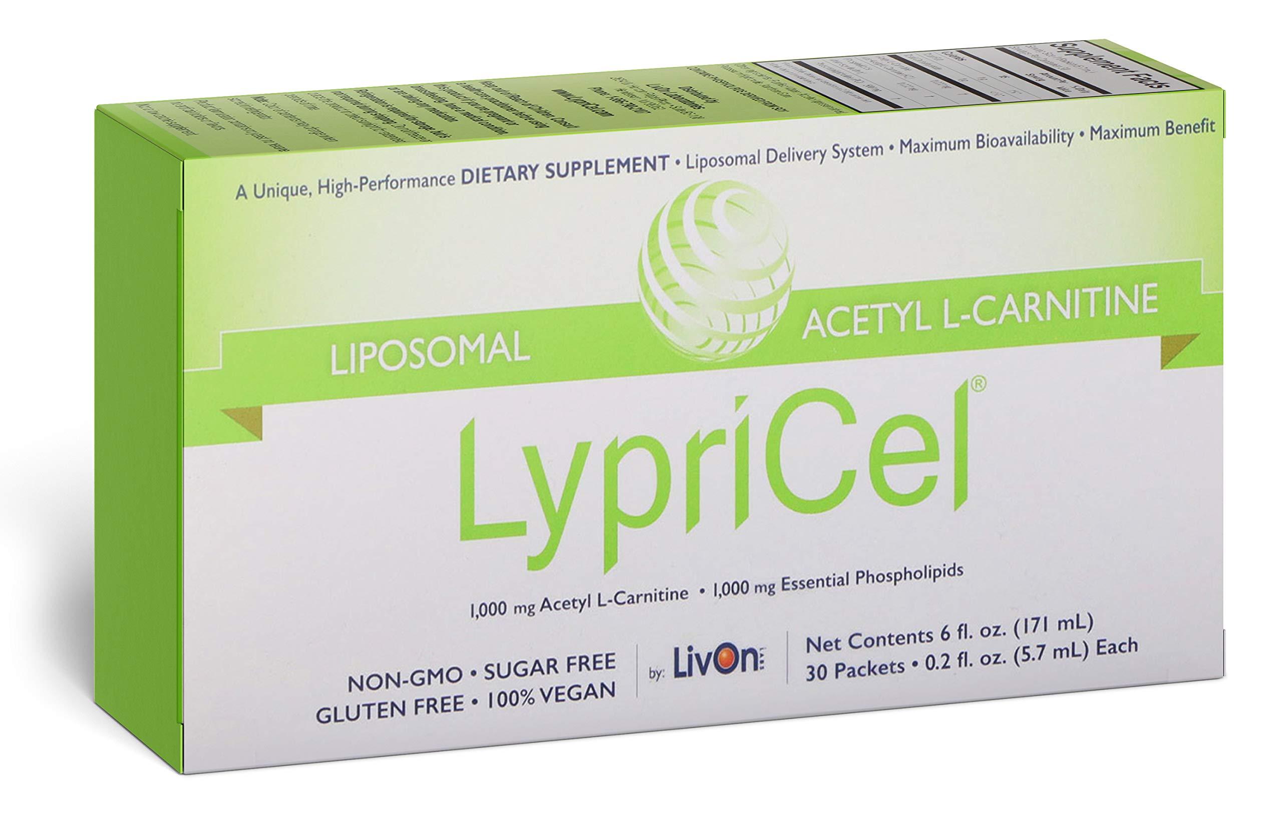 LypriCel Liposomal Acetyl L-Carnitine 30 Packets 0 2 fl oz 5 7 ml Each
