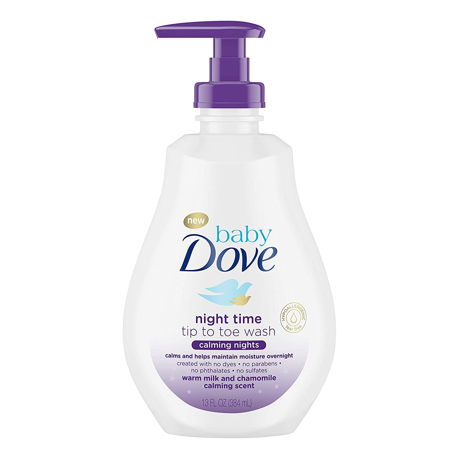 Baby Dove Tip to Toe Wash and Shampoo Calming Nights 13 oz Washes Away Bacteria While Nourishing Your Skin