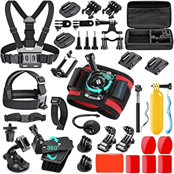 SmilePowo 42-in-1 Accessorries Kit for Hero 9 8 Max 7 6 5 4 3 3+ 2 1