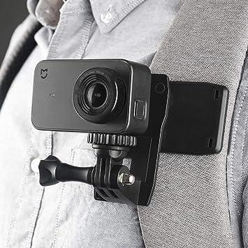 2018 Mochila Correa Clip de Montaje Montaje de Abrazadera de rotaci/ón de 360 Grados Compatible con GoPro Hero Fusion Sesi/ón de GoPro Hero 7 6 5 4 3+ Sjcam Xiaomi Yi