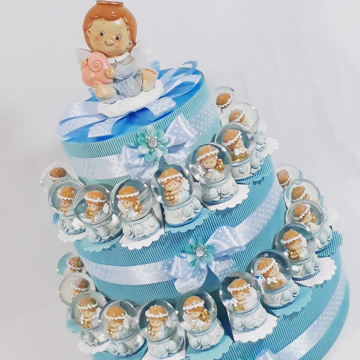 Tarta BOMBONIERA bola de nieve oso envío incluye bautizo cumpleaños niño