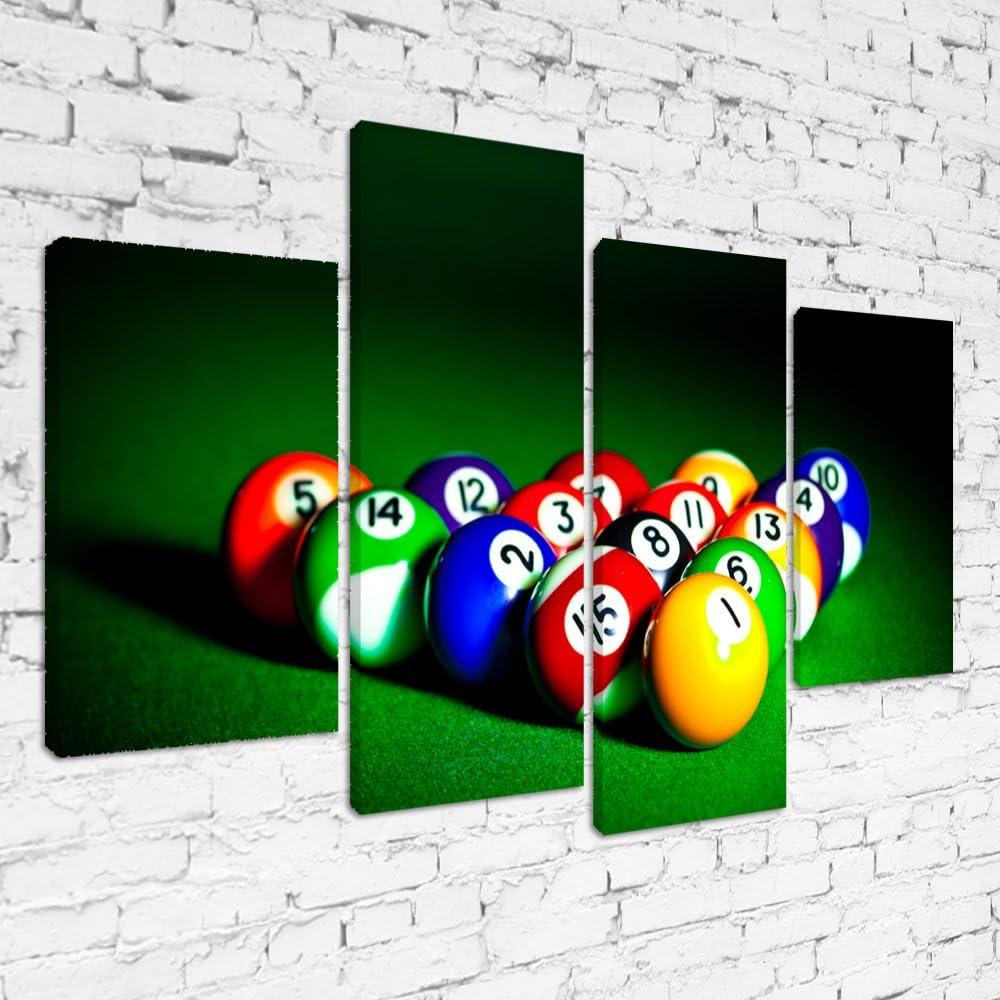 mps468 bolas de billar triángulo Close Up enmarcado listo para colgar multi Panel impresión DE lienzo, deporte, Pop street Wall Art, imagen, Option 1: Display Size 40