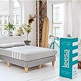 Leesa Original Bed-in-a-Box, Three Premium Foam Layers Mattress, King, Gray & White