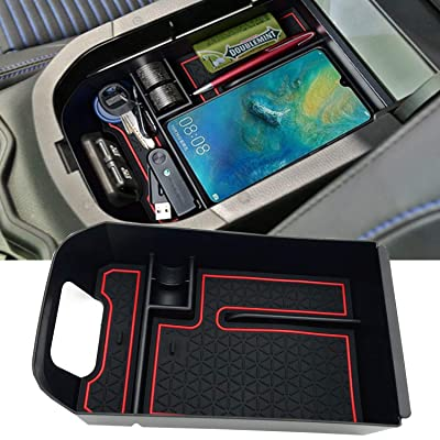 JOJOMARK for 2020 Toyota RAV4 Accessories Center Console Organizer Tray Armrest Box Secondary Storage Fit 2020 2020 Toyota RAV4: Automotive