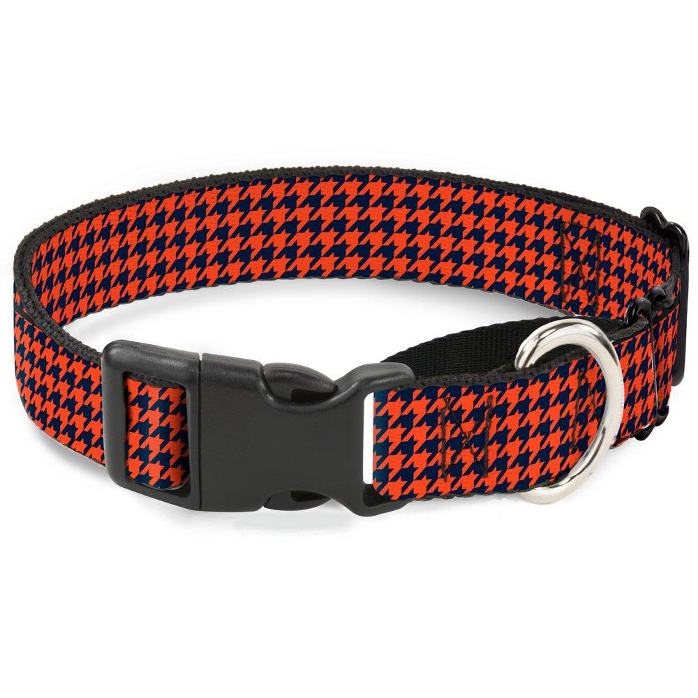 Buckle-Down Houndstooth orange bluee Martingale Dog Collar, 1  Wide-Fits 11-17  Neck-Medium
