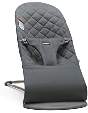 BABYBJORN Bouncer Bliss, Quilted Cotton, Anthracite, Anthracite (Slate Grey)