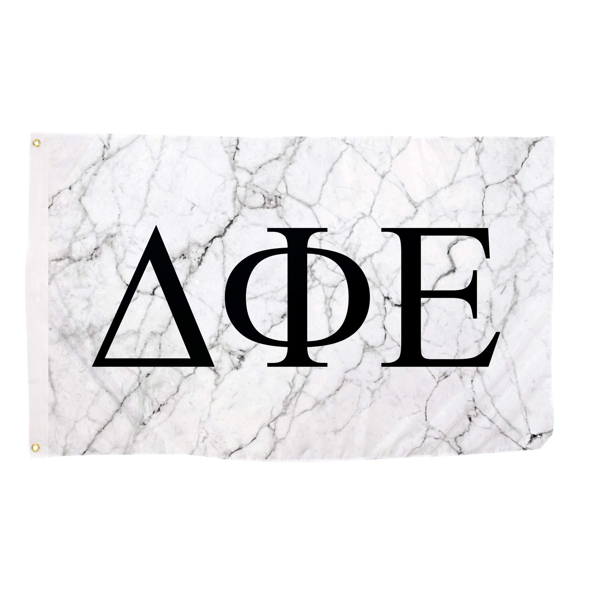 Delta Phi Epsilon Light Marble Sorority Letter Flag Banner 3 x 5 Sign Decor DPhie