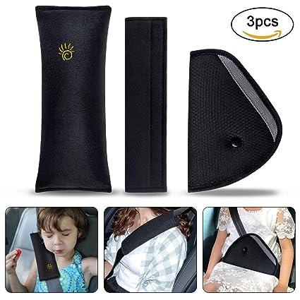 Almohadillas para Cinturón Coche Seguridad, URAQT Almohadillas Protectores de Hombro, Auto Almohada para Cinturón