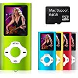 MYMAHDI - Digital, Compact and Portable MP3 / MP4 Player ( Max support 64 GB Micro SD Card ) with Photo Viewer, E-Book Reader and Voice Recorder and FM Radio Video Movie in Green