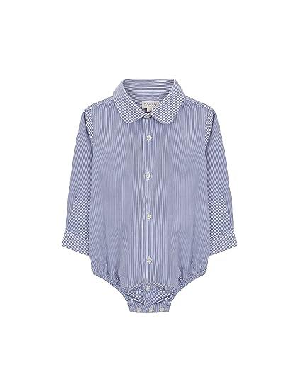 2ecad9137 Gocco Baby Boys  Camisa Body Mil Rayas Shirt Blue (Light Indigo A1 ...