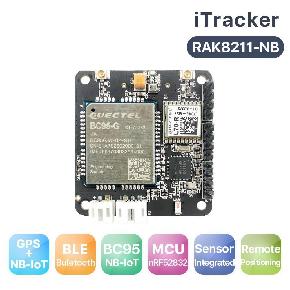 Amazon com: RAKWireless RAK8211-NB Nordic nRF52832 iTracker