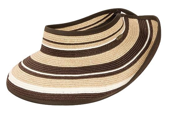 441b7b44ae071 Amazon.com  Karen Keith Paper Braid Wide Brim Roll Up Sun Visor Hat ...