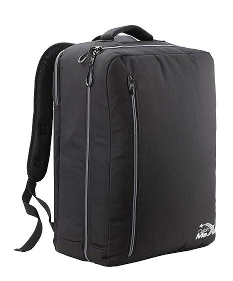 e4033a23bdb Cabin Max Durham - Mochila de Cabina Ligera - Equipaje Ideal para Vuelos de  Thomas Cook con Compartimento para Portátil iPad Notebook (Negro Gris)  ...
