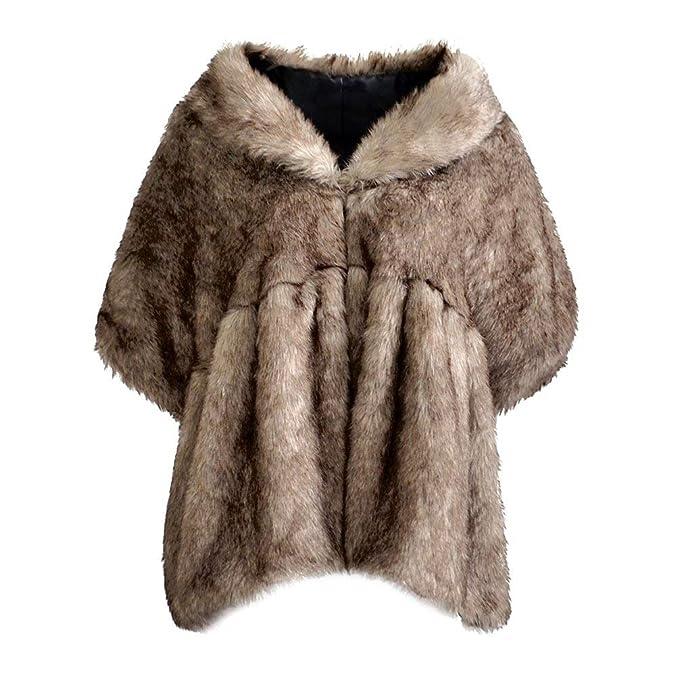 Mujer Chal De Piel Otoño Invierno Piel Sintética Capa Abrigos Vintage Clásico Especial Espesar Caliente Otoño