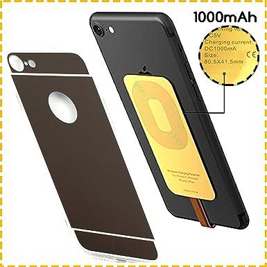 ytech - PREMIUM rápido oro - Qi receptor para iPhone - 7 ...