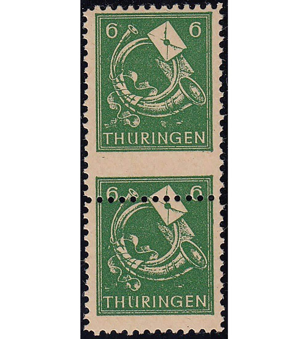 Goldhahn SBZ SBZ SBZ Nr. 95 postfrisch  Paar Obere Marke in Übergröße Briefmarken für Sammler eba53e
