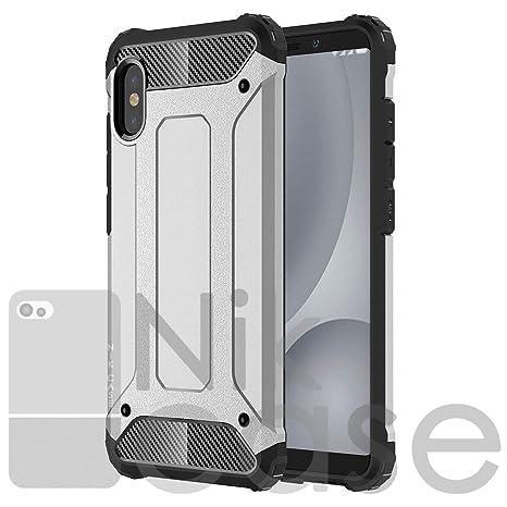 info for 17f23 370f8 Nik case for vivo v11 pro Cover, vivo v11 pro case Shockproof Hard Rugged  Cover, PC & TPU Hybrid Tough Armor Back Phone Case (M Silver)