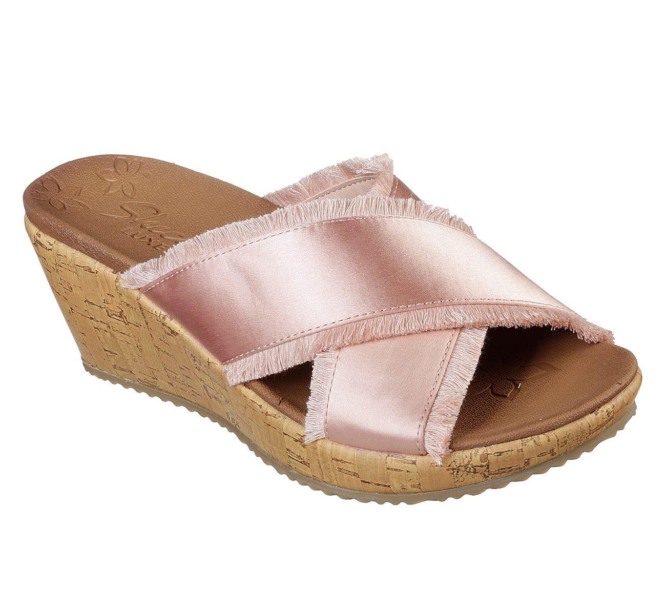 Skechers Women's Beverlee Street Style Wedge Sandal, Light Pink,10 US