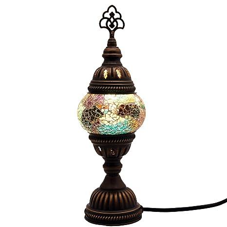mosaico lámpara de pie Lámpara de mesa auxiliar lámpara de ...