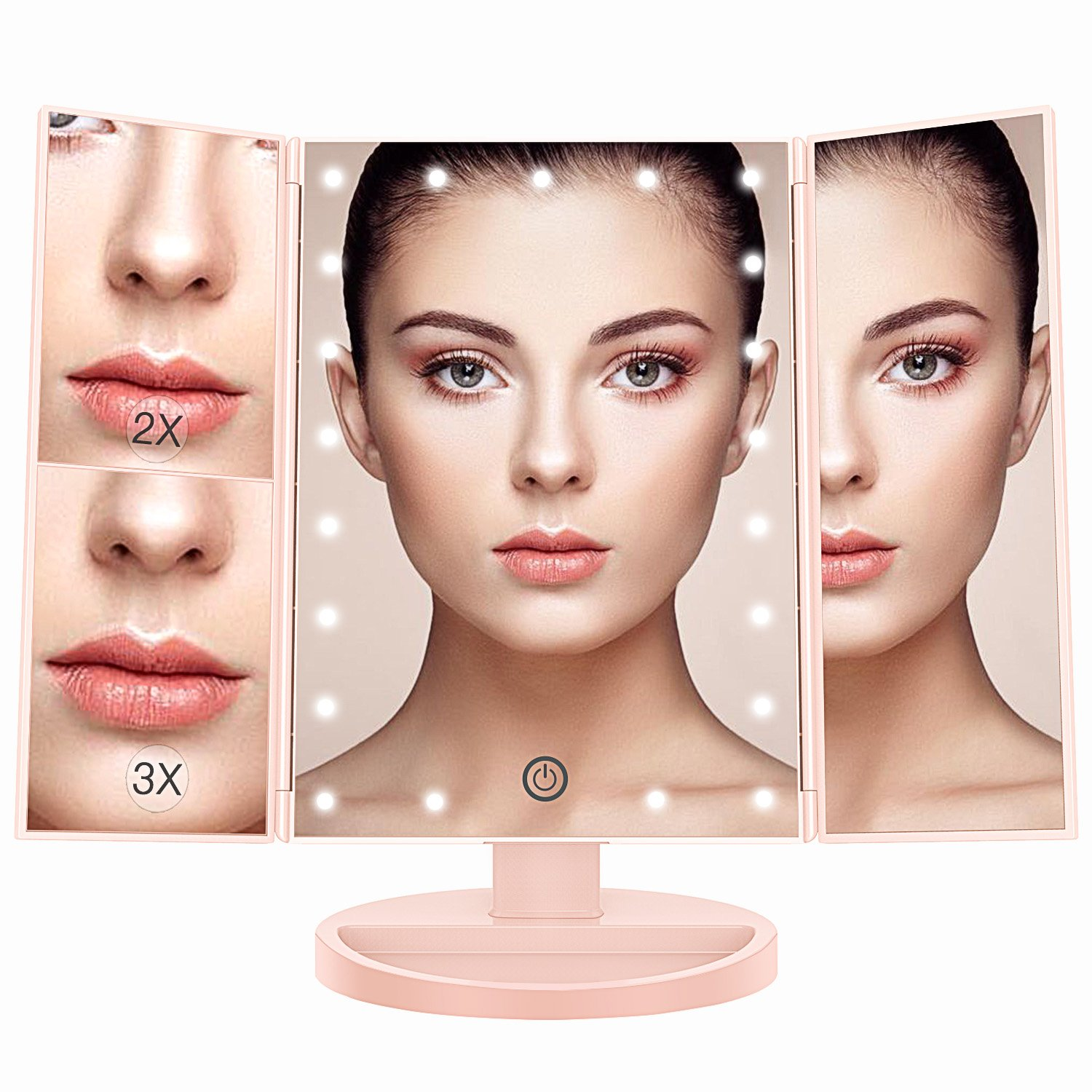 BESTOPE LED Touch Screen Makeup Mirror