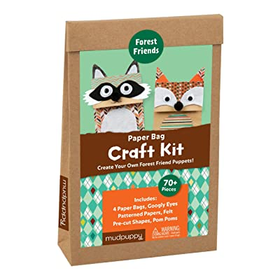 Mudpuppy Forest Friends Paper Bag Craft Kit: Mudpuppy, Ski, Jenn: Toys & Games