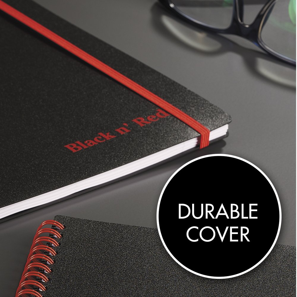 Amazon.com: Black n\' Red Twin Wire Poly Cover Notebook, 8-1/4\
