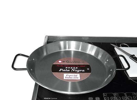 Garcima - Paellera valenciana acero pulido induccion 38 cm