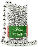 Kurt Adler 15-Feet Silver Bead Garland