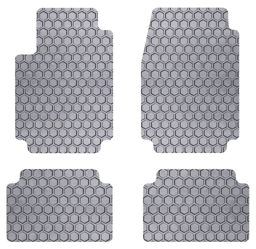 Intro-Tech MN-120-RT-G Hexomat Cargo Area Custom Fit Floor Mat for Select Mini Paceman Models Sunken Small Gray Rubber-Like Compound