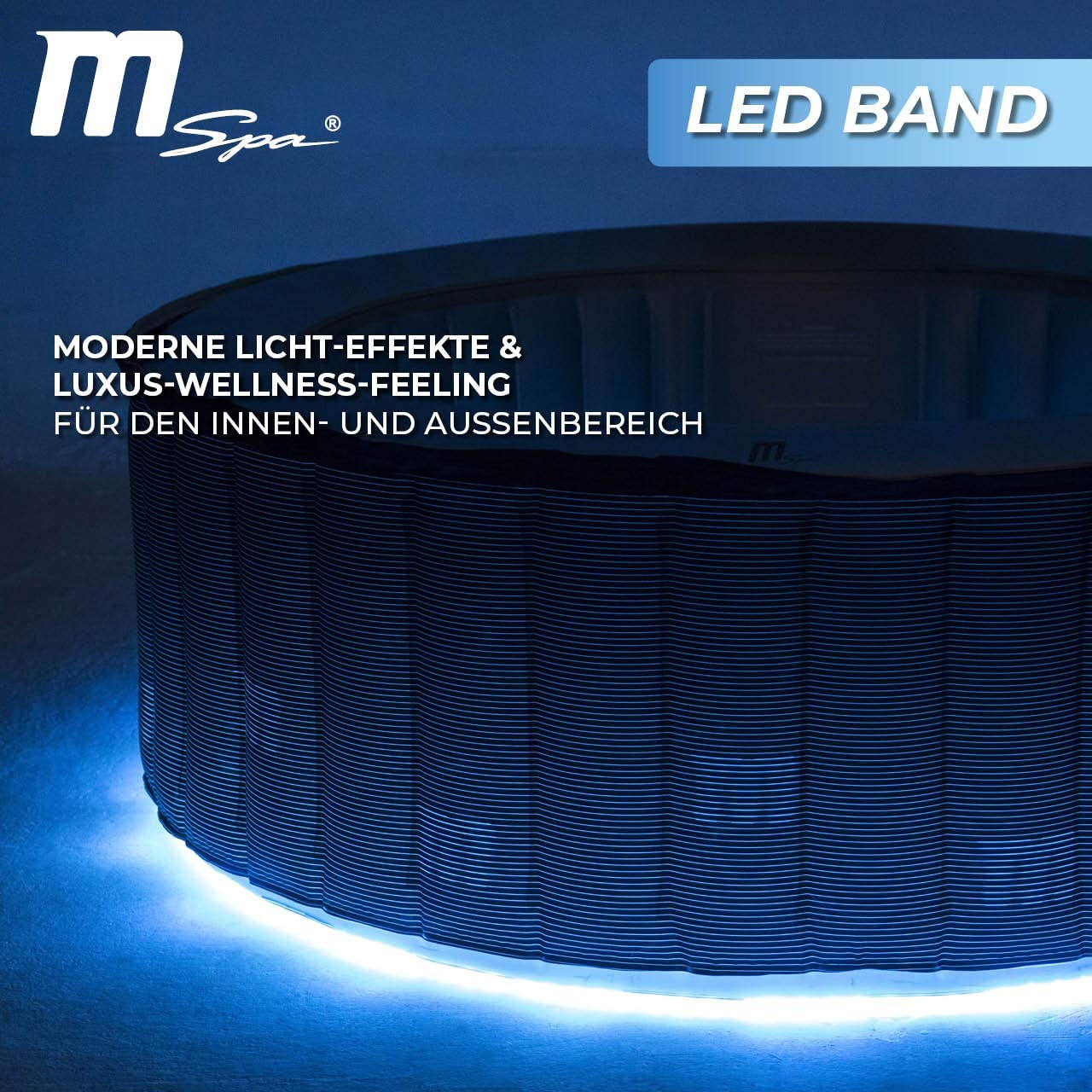 Miweba MSpa - Jacuzzi Hinchable para Exteriores (LED, 4/6 Personas ...