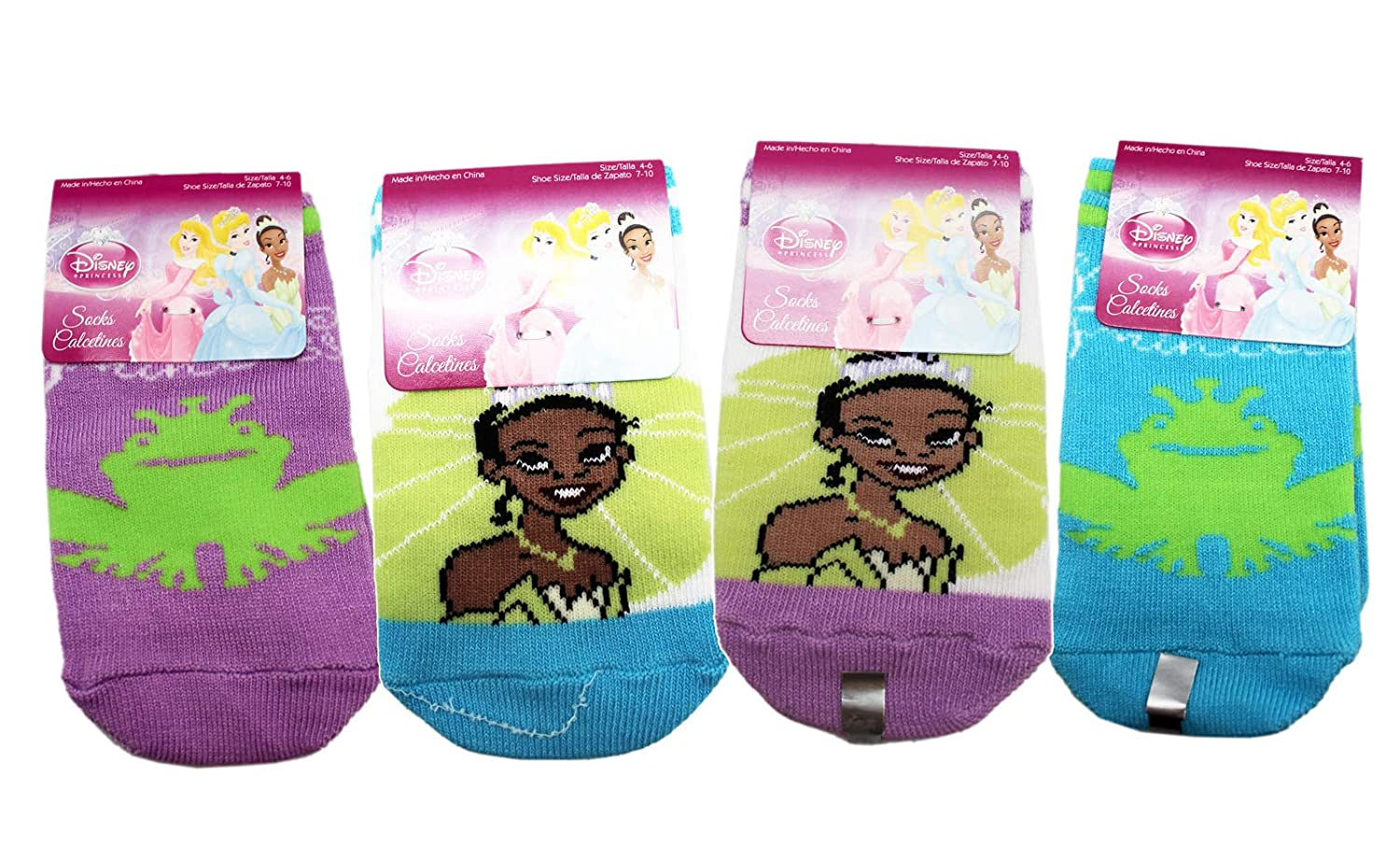 2 Pairs Disneys The Princess and the Frog Assorted Color Small Kid Socks