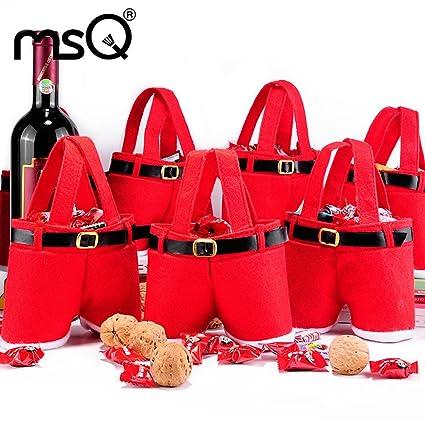 Amazon.com: MSQ 6pcs Christmas Gift Bags Christmas Present Candy ...