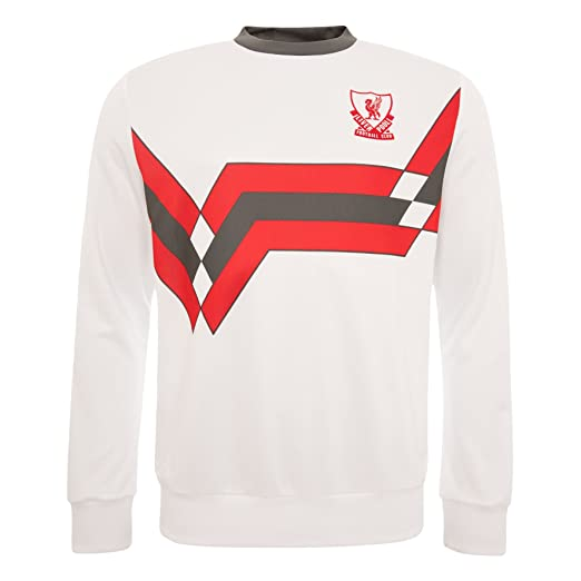 2298332c95f Image Unavailable. Image not available for. Color: Liverpool FC White Mens  Candy Sweat Shirt Long Sleeve LFC Official Store