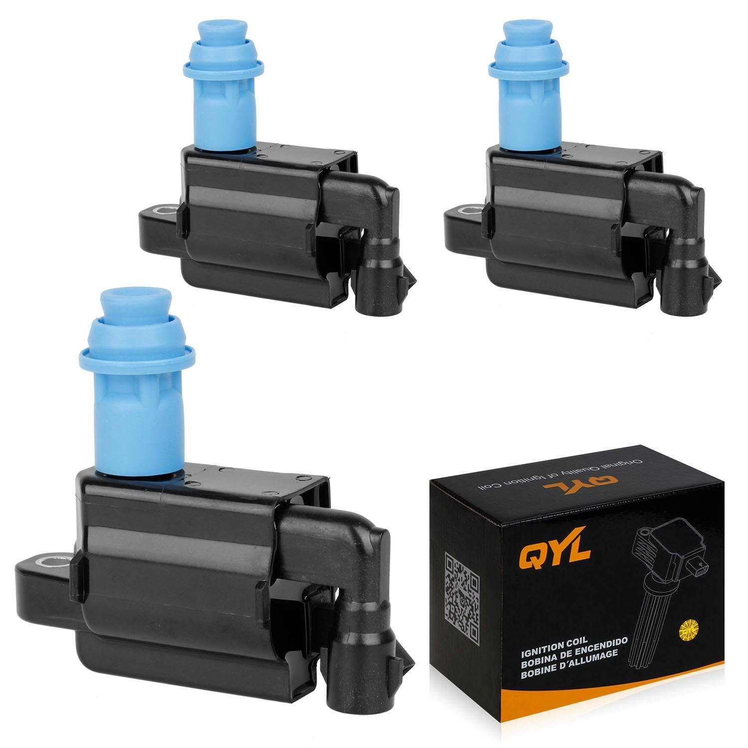 Ignition Coil Replacement for Lexus - GS300 IS300 SC300 - Toyota - Supra - 3.0l V6 Compatible with C1153 88921376 90919-02216 - 3 PACK QYL