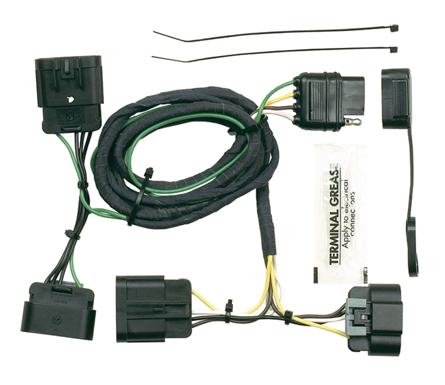 amazon com hopkins 41175 plug in simple vehicle to trailer wiring rh amazon com 5 Pin Trailer Wiring Harness 4 Prong Trailer Wiring Diagram
