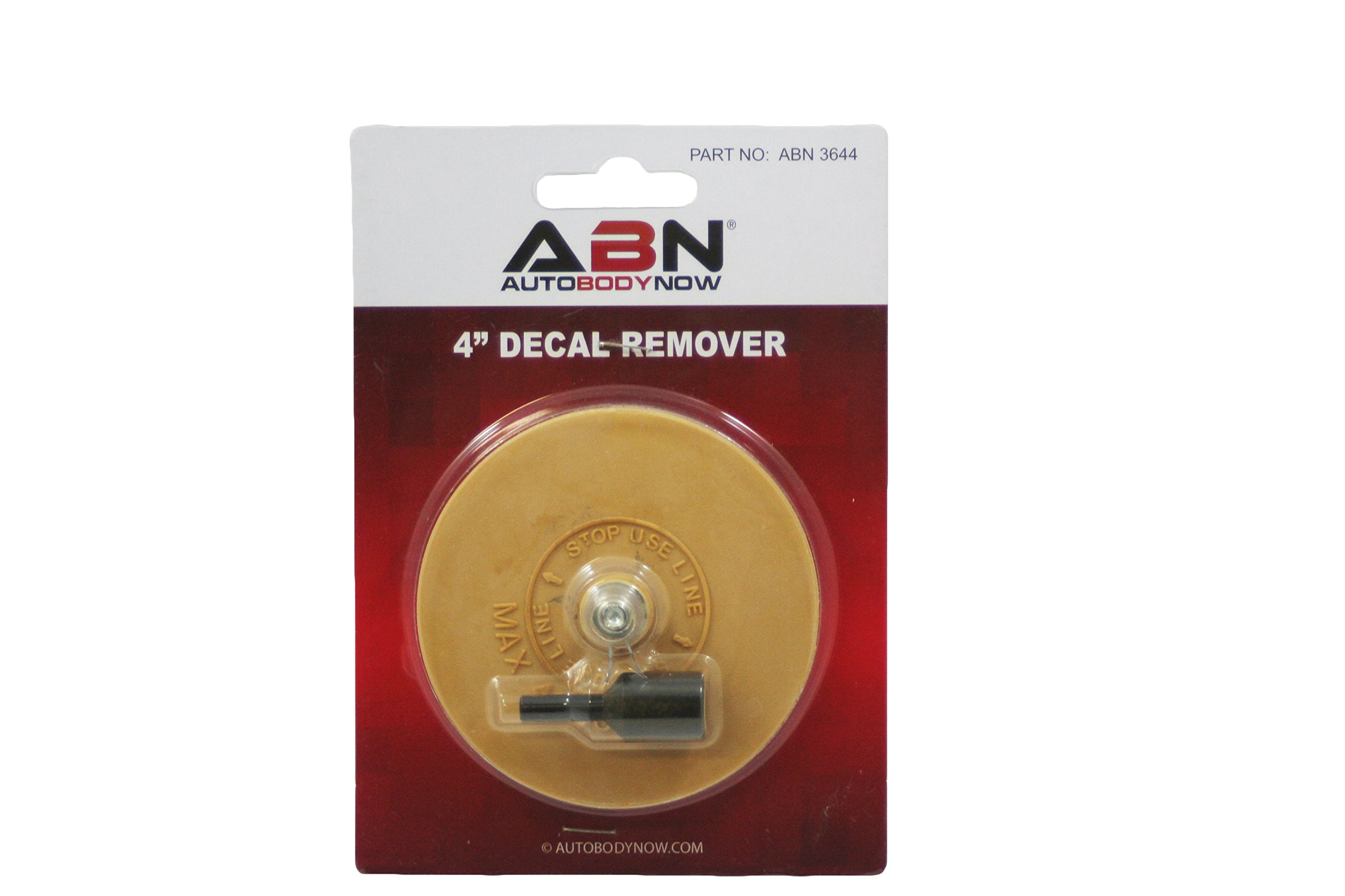 """ABN Rubber Eraser Wheel 4"""" inch Pad & Adapter 1-Pack – Pinstripe, Adhesive Remover, Vinyl Decal, Graphics Removal Tool by ABN"""