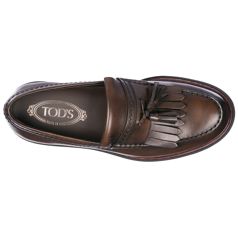 Tods Mocasines EN Piel Hombres Marrón: Amazon.es: Zapatos y complementos