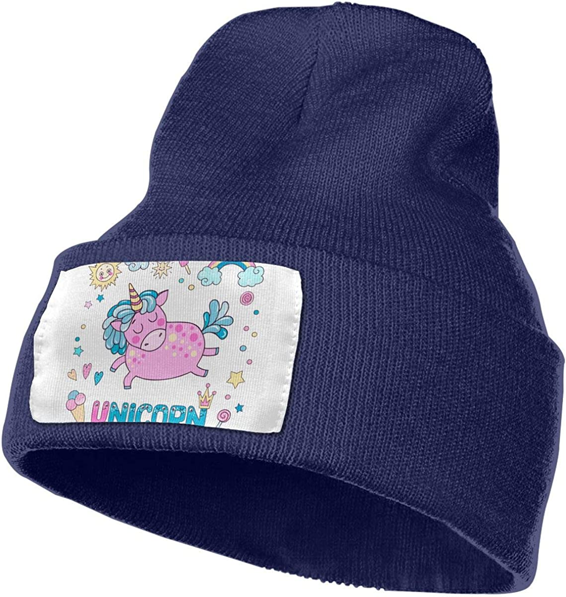 Cute Magic Collection with Pink Unicorn Unisex Fashion Knitted Hat Luxury Hip-Hop Cap