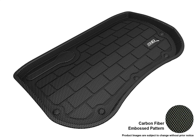 3D MAXpider M1TL0061309 Custom Fit All-Weather Kagu Series Cargo Liner Black Front Tesla 3 Models