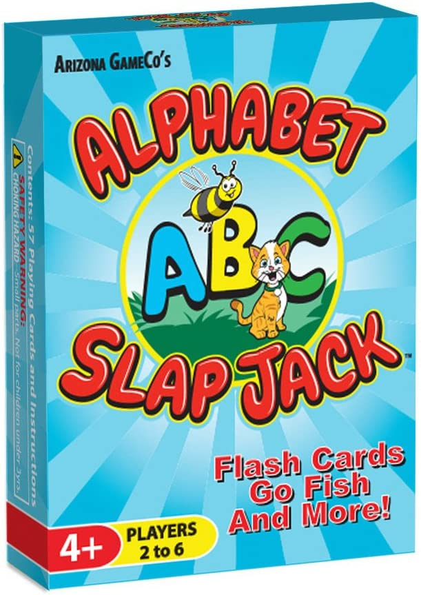 Arizona GameCo Alphabet Slap Jack - a Fun ABC Letter Learning Card Game - Kids Learn Upper/Lowercase Letter Recognition and Letter Sounds While Playing a Fun Game – Preschool Thru 1st Grade