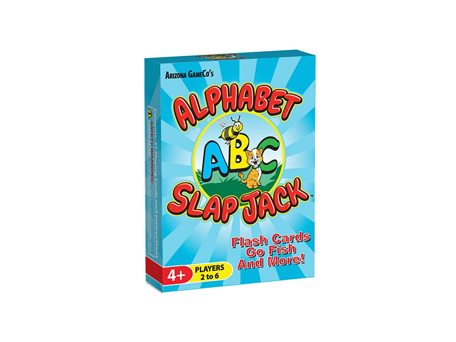 Arizona GameCo Alphabet Slap Jack - a Fun ABC Letter Learning Card Game - Kids Learn Upper/Lowercase Letter Recognition and Letter Sounds While ...