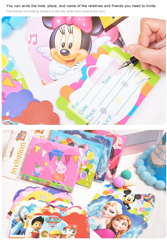 Qemsele Invitaciones para Niños, 30 Inglés Tarjetas de Invitación con Sobres para infantile Chicas Fiesta de Cumpleaños Baby Shower Decoraciones ...
