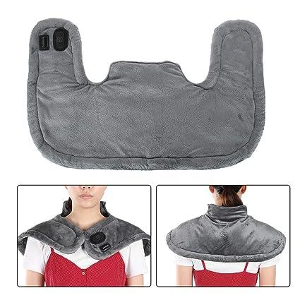Almohadilla Eléctrica Térmica para Cuello, Hombros y Espalda Almohadilla Eléctrica de Calefacción Aliviar Dolor Muscular