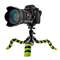 """Coolway® 11.5"""" Pulgadas Pipi Grande Pulpo Trípode Para DSLR Cámara Super Flexible las Articulaciones Quick-release Clip con Anillo de Bloqueo - Negro/Verde"""