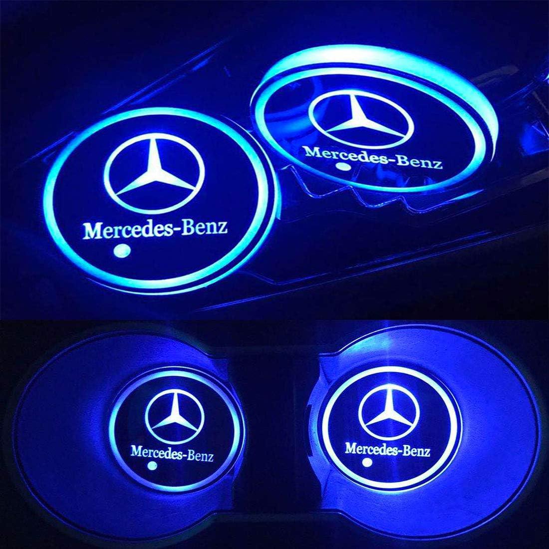 SR 2 PCS Car Cup Holder Coaster Car Interior Accessories Durable Silicone Car Logo Cup Mat Fit Audi