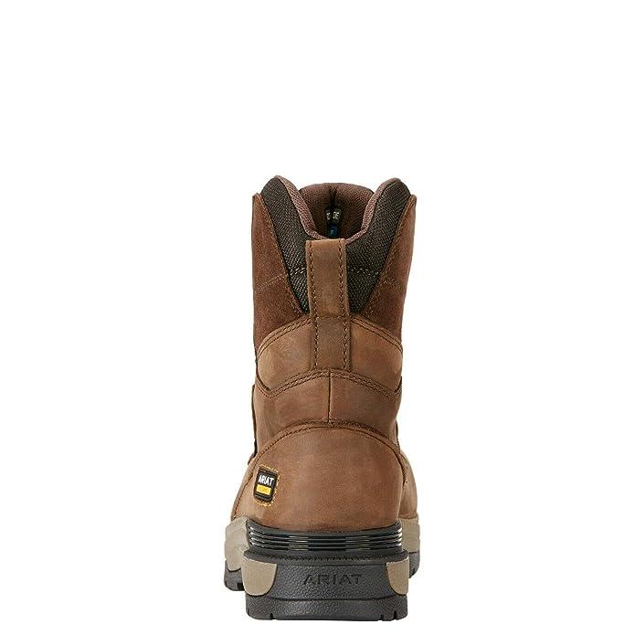 """Ariat Mastergrip 8/"""" H2O S3 SRC Safety Work Boot Brown"""