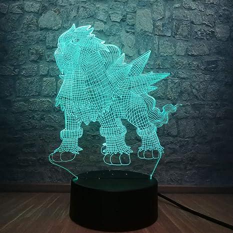Lámpara LED 3d wangZJ/Luz de noche de mesa para el hogar ...