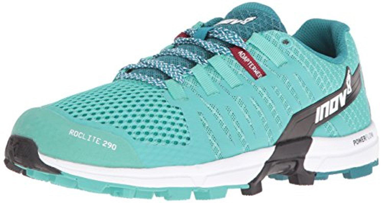 Inov8 Women's Roclite 290 Off Road Shoes & Workout Visor Bundle B06XSNYT5R W6.5|Teal / Black / White