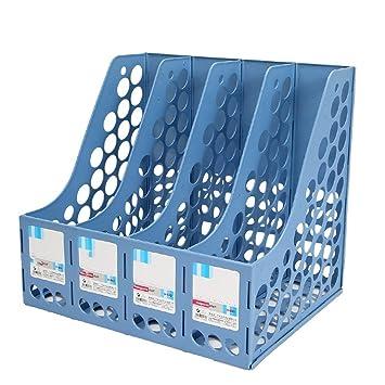 Portapapeles de plástico azul Archivador de marcos Divisor de archivadores Estante y organizadores de almacenamiento Cuadros 4 Grid File Holders Material de ...